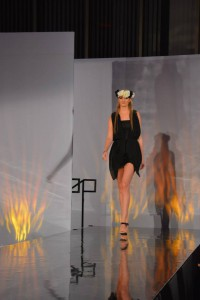 lynn university, fashion show, model, lbd, black , black dress, dress, model, sexy
