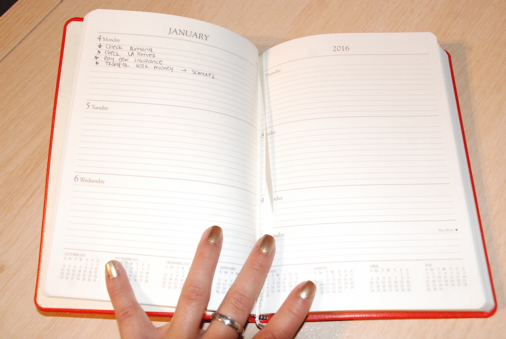 A Hint of Life shares her 2016 agenda planner