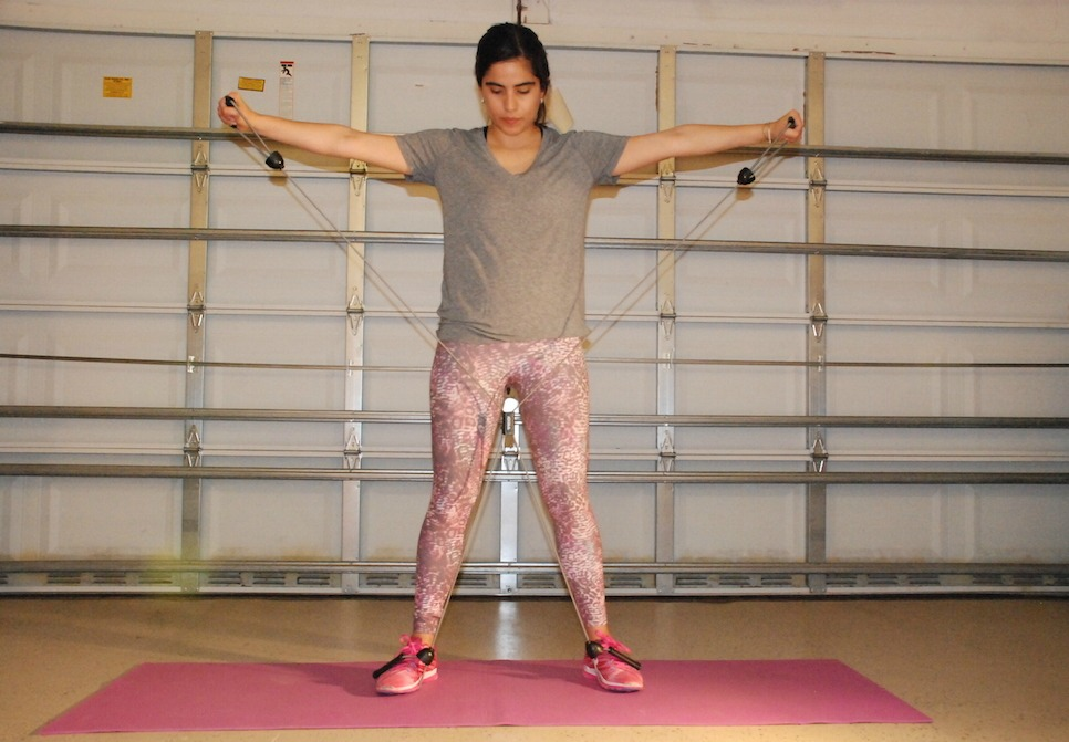 A Hint of Life shares a workout routine with TKO Resistance bands
