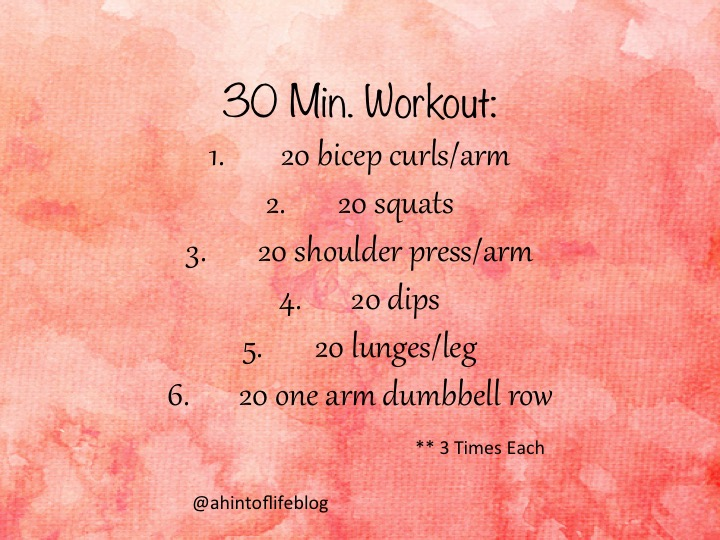 A Hint of Life shares a 30 minute full body workout