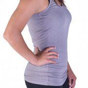 basic gray tank top for women
