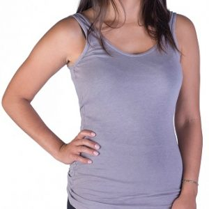 basic gray tank top for women