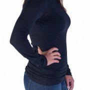 black turtleneck top long sleeves