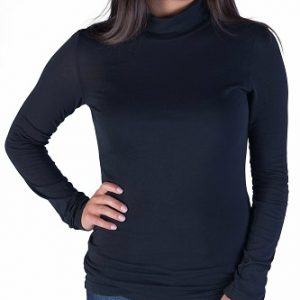 black turtleneck top long sleeves