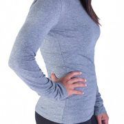 Gray long sleeve round neck top