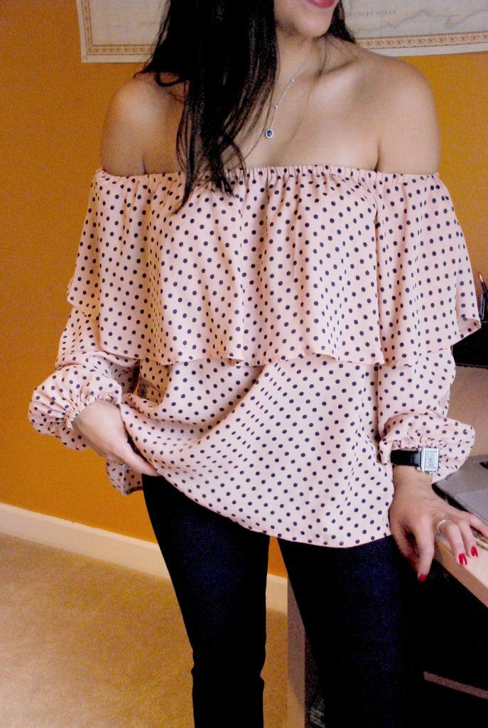 Shein - Polka dot blouse