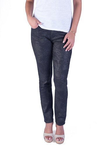 Iridescent printed ultra skinny jeans for women
