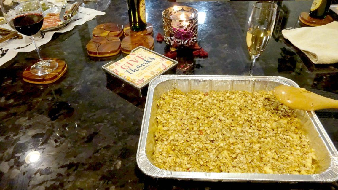 apple crumble recipe. Vegan recipe
