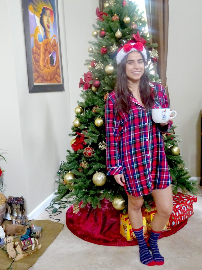 Christmas Season - Going to bed in your favorite pj's inspired by the holiday season.