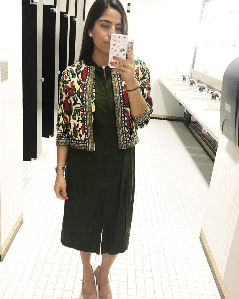 A Hint of Life   Ladylike jacket - Multicolor Tribal Print Outerwear With Embroidered Tape Detail