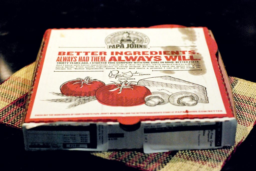 Spend a Friday night with Papa Johns Gluten Free Crust Pizza