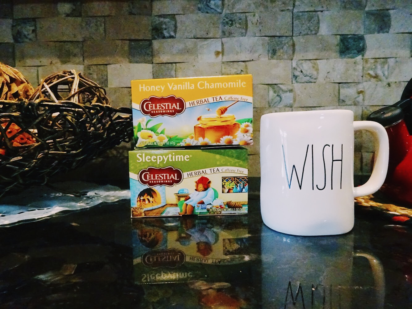 My fall night routine with chamomile tea
