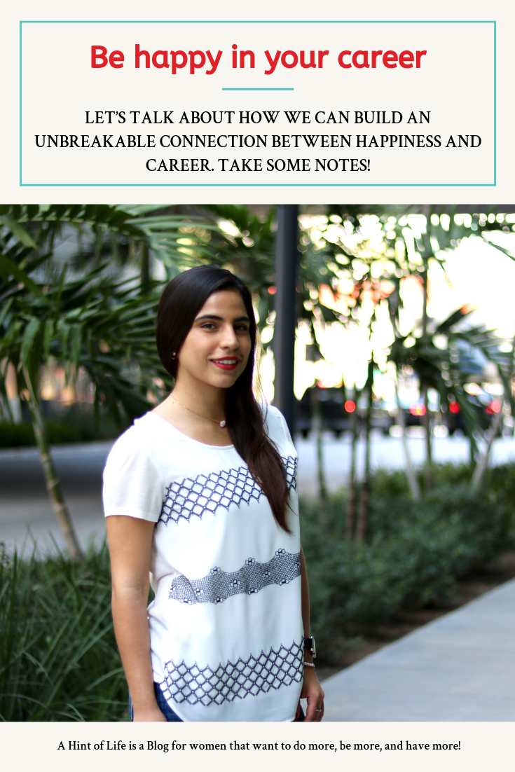 Let's talk about how we can build an unbreakable connection between happiness and career. It's important to be happy in our careers if we want to do a good job and succeed. Take some notes!